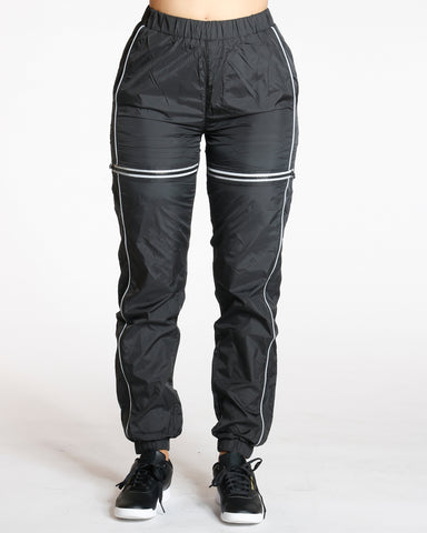 Reflective Trim Jogger - Black