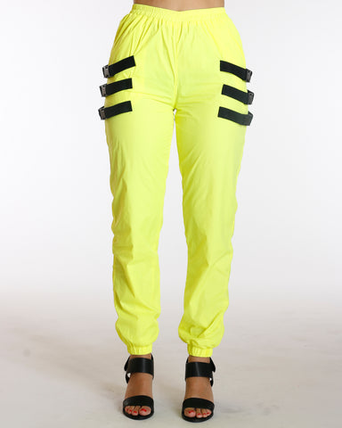 Windbreaker Reflective Jogger - Neon Yellow