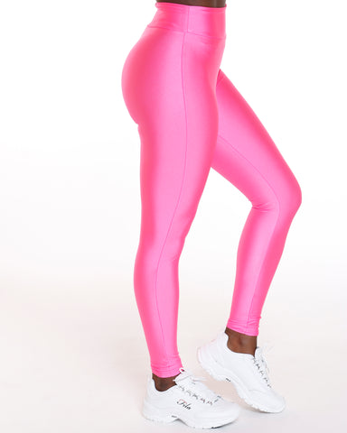 Pink Spandex High Waist Legging