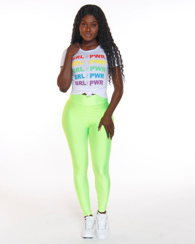 Green Spandex High Waist Legging