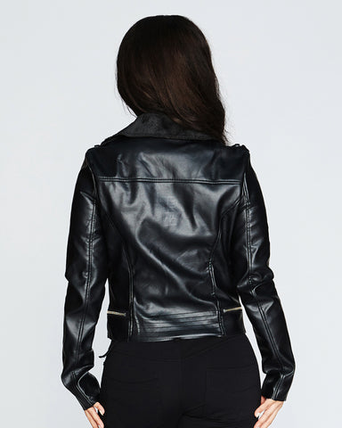 NIGHT RIDER FAUX LEATHER JACKET