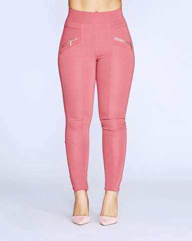 BAD GAL ZIP PONTE PANTS (Available in 5 colors)