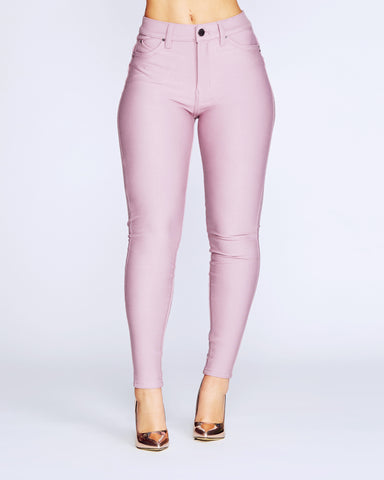 Hyper Stretch Skinny Pants - Mauve
