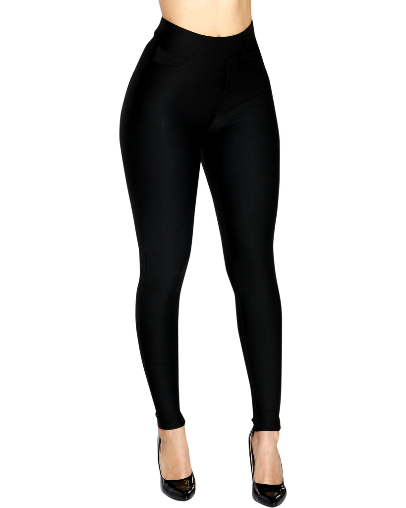 VIM VIXEN Speed Trap Ponte Pant - Black - ShopVimVixen.com