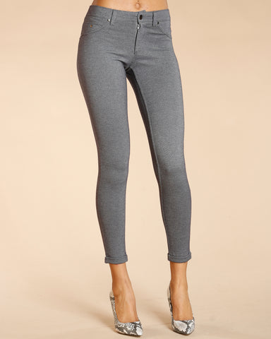 FIVE POCKET CUFF BOTTOM PONTE PANTS (AVAILABLE IN 5 COLORS)