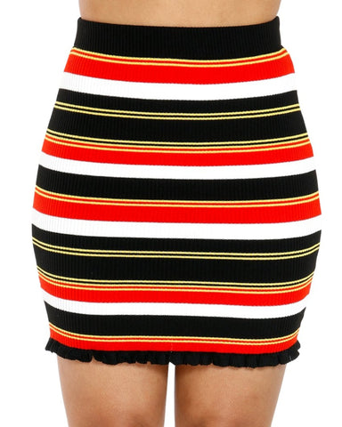 Ruth Stripe Skirt