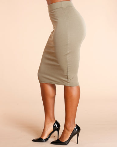 Ponte Pencil Skirt (Available In 8 Colors)
