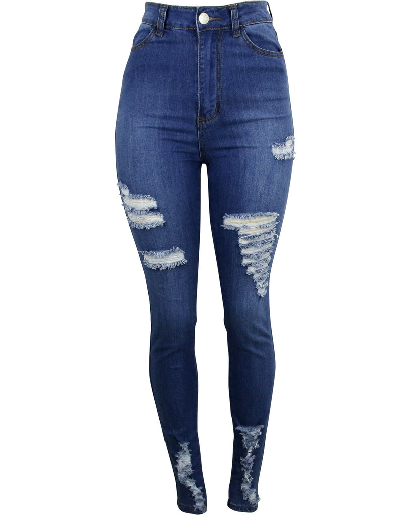Highwaist Ripped Stretch Jeans