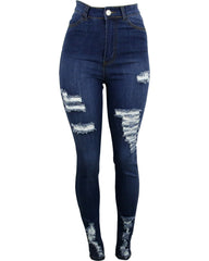 Highwaist Rips Stretch Jeans