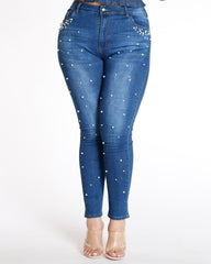 Pearl And Stone Jean - Dark Blue
