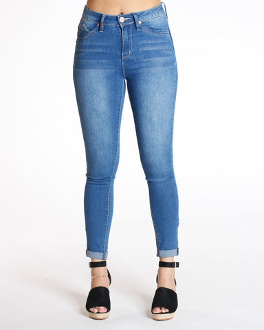 Medium Denim Ankle Highrise Luxe