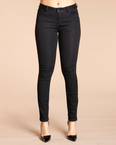 Notice Me Five Pockets Stretch Jeans - Black
