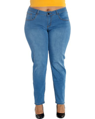 VIM VIXEN Notice Me Stretch Light Blue Jeans - ShopVimVixen.com