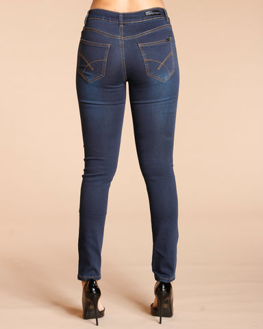 Notice Me Five Pockets Stretch Jeans - Dark Indigo