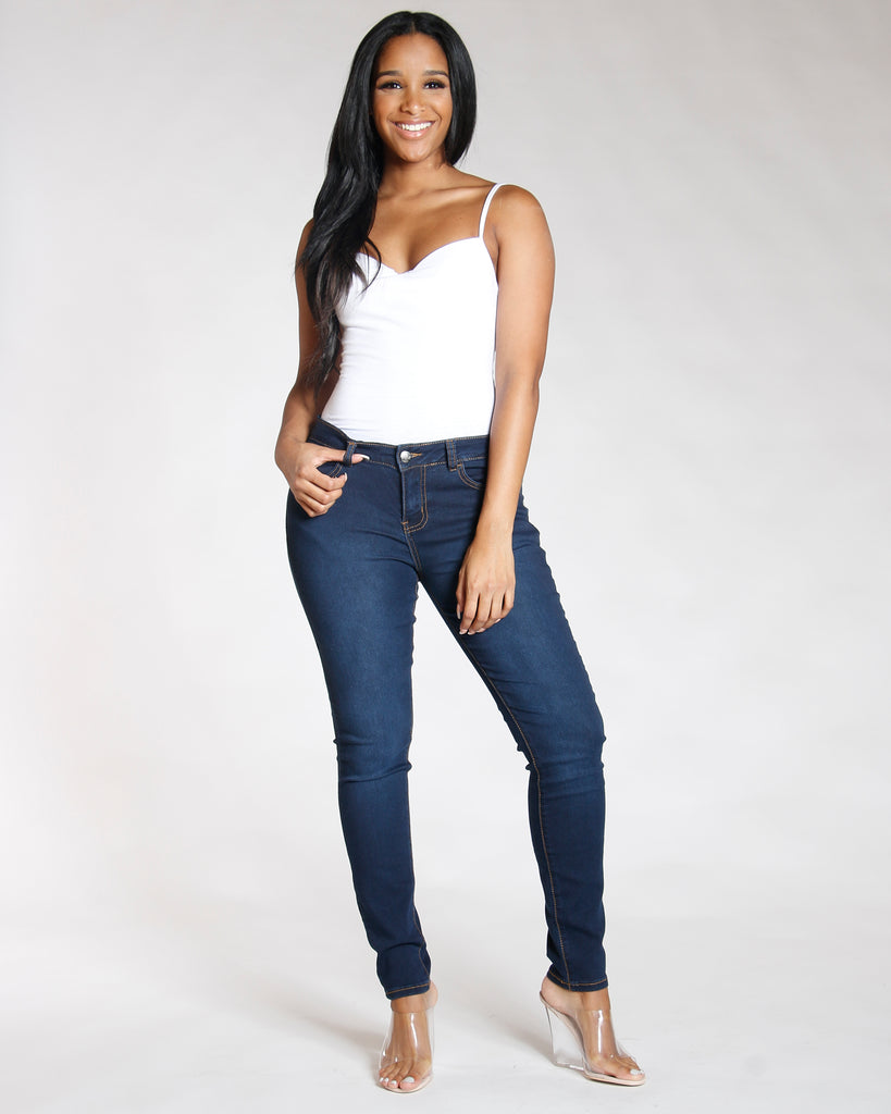 REMY MA BY VIM VIXEN Stretch Five Pocket Jean - Dark Indigo - ShopVimVixen.com