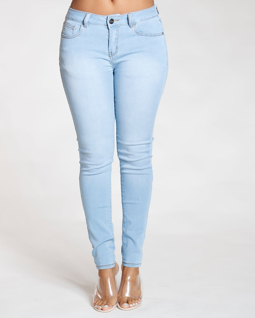 REMY MA BY VIM VIXEN Stretch Five Pocket Jean - Light Indigo - ShopVimVixen.com