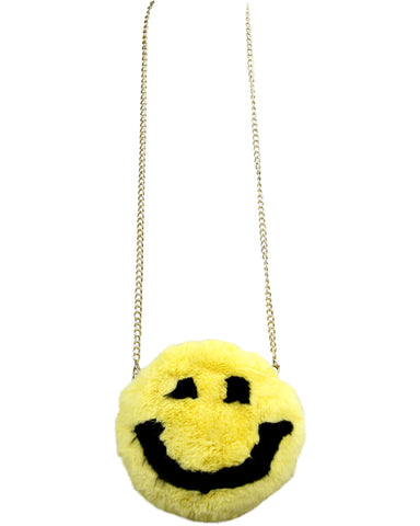 Wo Wo Emoji Fur Cross Body Bag