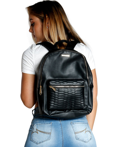 SNAKE QUILTED BACKPACK (AVAILABLE IN 3 COLORS)
