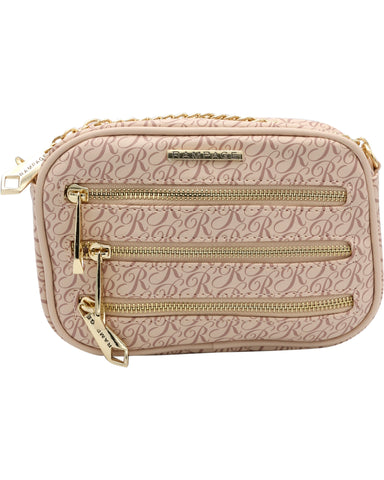 Triple Zip Signature Cross body (Available in 3 colors)