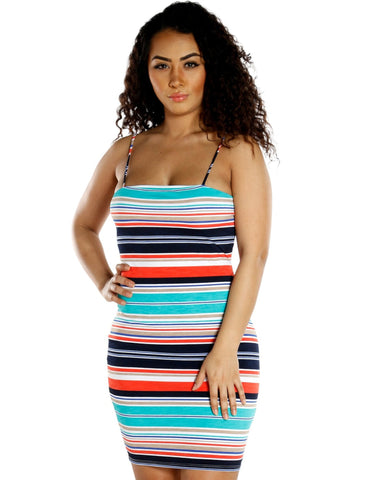 ANGLIE MULTI STRIPE DRESS