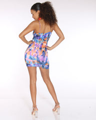 VIM VIXEN Kamila Tie Dye Rouched Dress - Multi - ShopVimVixen.com
