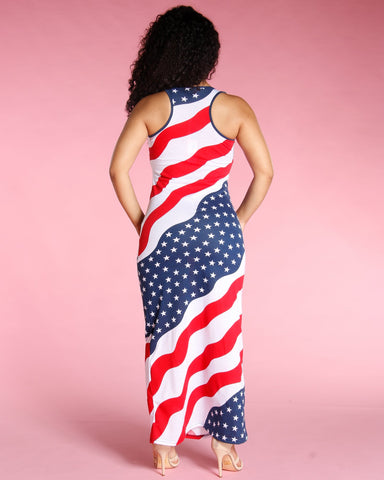 Flag Wave Maxi Dress