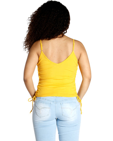 Sunny Side Lace Up Tank (Available In 4 Colors)