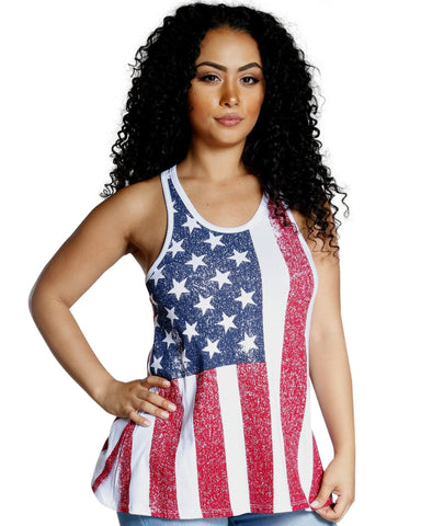 PATRIOTIC LOVER TANK TOP
