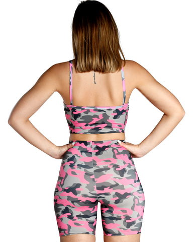 COLOR CAMO TANK TOP - PINK