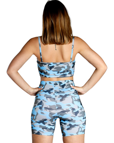 Color Camo Tank Top - Blue