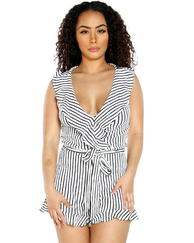 SHEBA STRIPE ROMPER (AVAILABLE IN 2 COLORS)