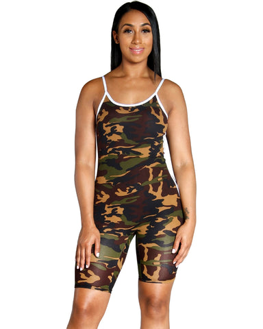 First In Command Camo Romper