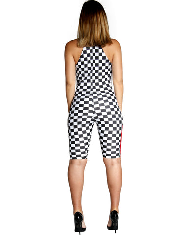 DATE NIGHT CHECKERED ROMPER (AVAILABLE IN 4 COLORS)