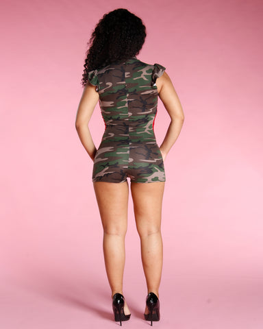CAMO SIDE STRIPE ROMPER (AVAILABLE IN 2 COLORS)