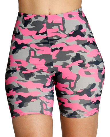 COLOR CAMO SHORTS - PINK
