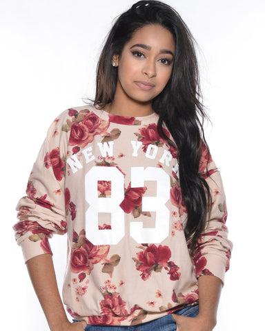 New York 83 Floral Top (Available in 2 colors)
