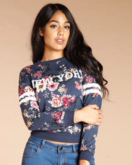 NEW York FLORAL HOCKEY KNITTED SWEATER