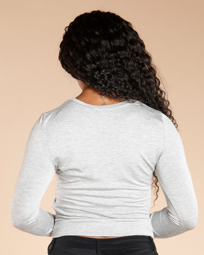 LONG SLEEVE FRONT TWIST TOP (AVAILABLE IN 3 COLORS)