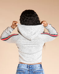VIM VIXEN Two Side Stripe Long Sleeve Tee - Heather Grey - ShopVimVixen.com