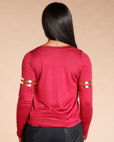 Burgundy Flawless Long Sleeve Tee