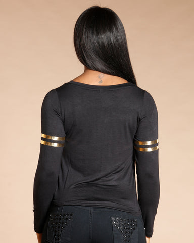 Black Flawless Long Sleeve Tee