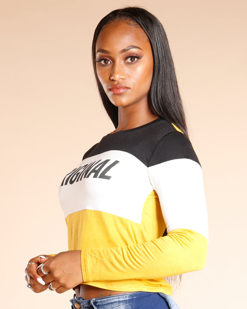 Original Color Block Long Sleeve