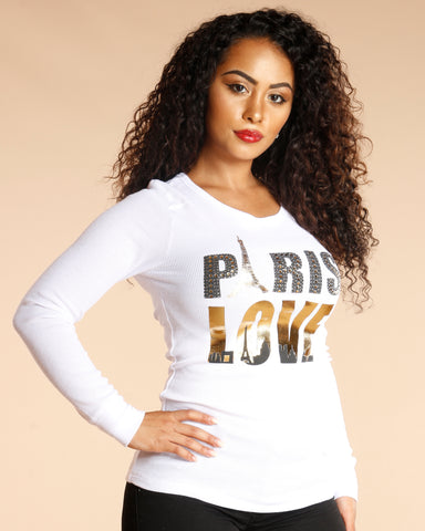 Paris Love Long Sleeve Tee