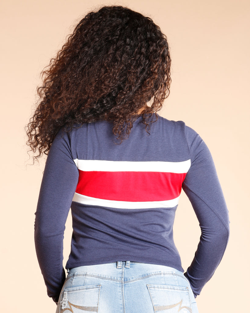 Long Sleeve Taping Top (Available In 3 Colors)