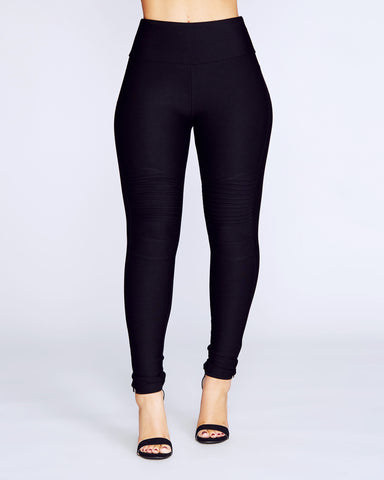 Motto Ponte Pants - BLACK