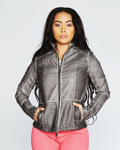 ANNET FAUX LEATHER JACKET