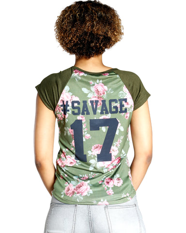 SAVAGE BLOOM TEE (AVAILABLE IN 2 COLORS)