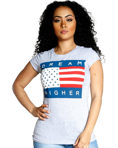 DREAM HIGHER AMERICAN TEE (AVAILABLE IN 2 COLORS)