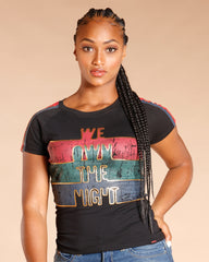 WE OWN THE NIGHT TAPING TEE - BLACK