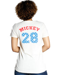 Mickey Mouse Usa Flag Tee